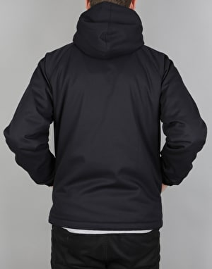 Magenta Hooded Cotton Jacket - Dark Navy