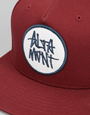 Altamont Stacked Snapback Cap - Oxblood