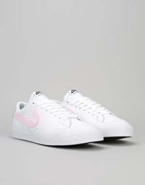 Nike SB Blazer Low XT Skate Shoes - White/Prism Pink-Black-White
