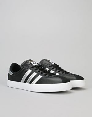 Adidas Skate ADV Skate Shoes - Core Black/Silver Metallic/White