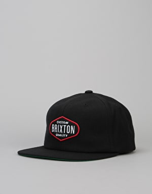 Brixton Oakland Two Panel Cap - Black
