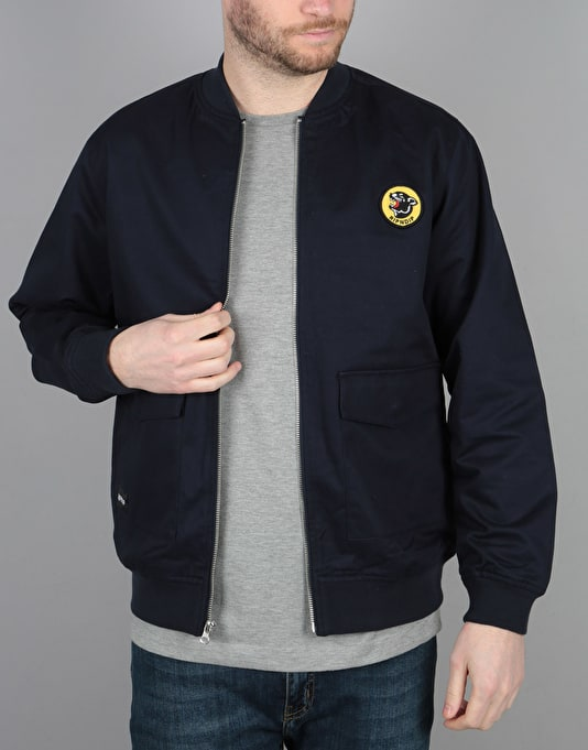 RIPNDIP Panther Zip Varsity Jacket - Navy