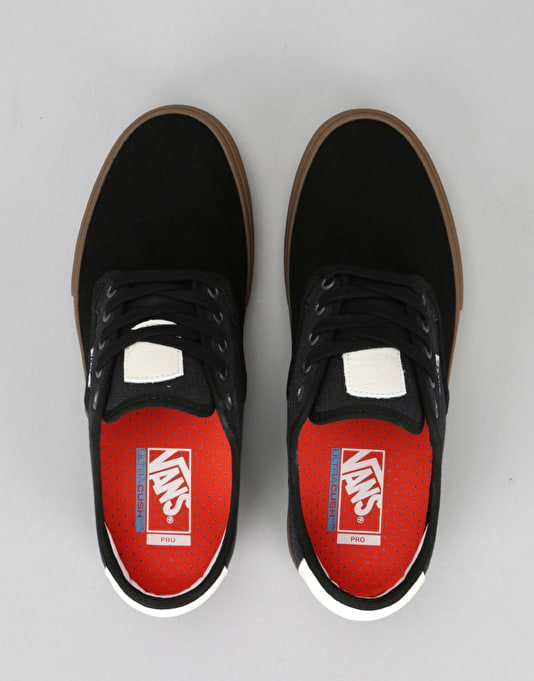 Vans Chima Ferguson Pro Skate Shoes - (Covert Twill) Black/Gum
