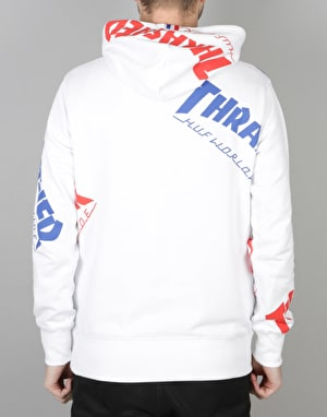 HUF x Thrasher TDS Allover Pullover Hoodie - White