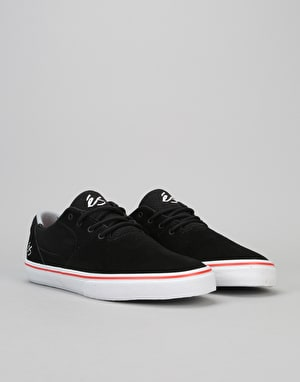 éS Accel Sq Skate Shoe - Black/White/Red