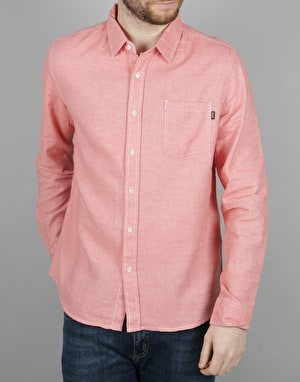 HUF Course L/S Chambray Shirt - Pink