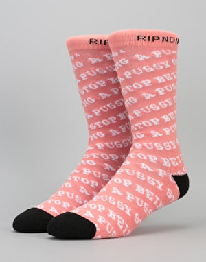 RIPNDIP Stop Being a Pussy Socks - Pink
