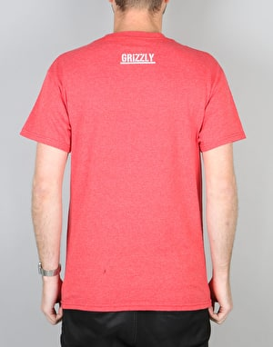 Grizzly Made to Last T-Shirt - Red Heather