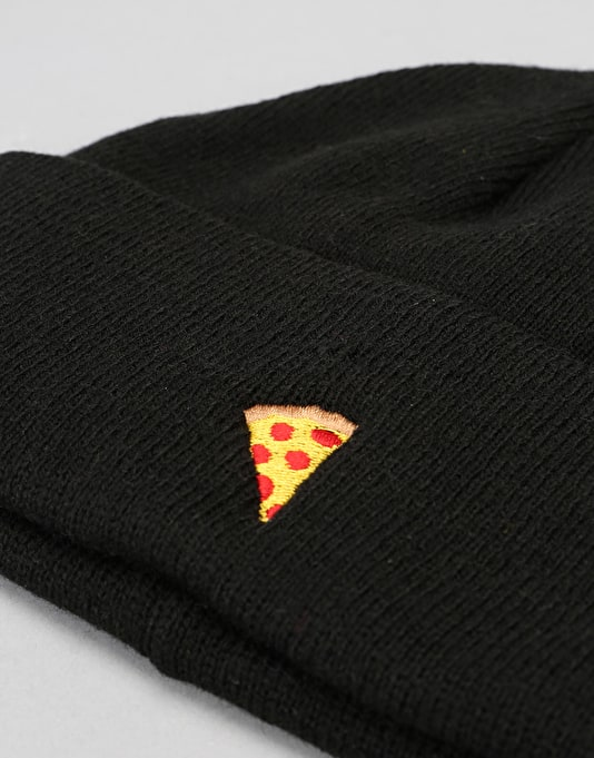 Pizza Emoji Beanie - Black