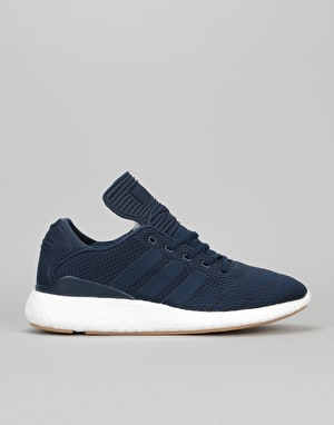Adidas Busenitz Pure Boost PK Skate Shoes - Collegiate Navy/White/Navy