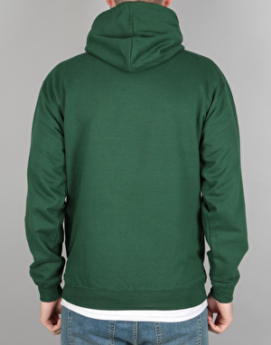 Route One Embroidered Logo Pullover Hoodie - Bottle Green