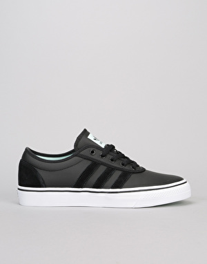 Adidas Adi-Ease Skate Shoes - Black/Black/Ice Green