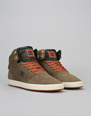 DC Crisis High Skate Shoes - Military