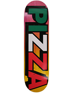 Pizza Tri-Colour Logo Team Deck - 8.4