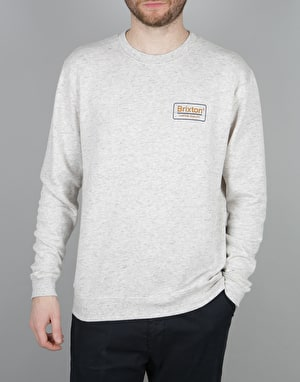 Brixton Palmer Crew Fleece - Heather Stone