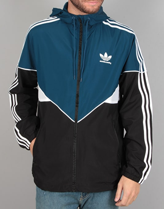 logo windbreaker - Blue adidas Very Cheap Cheap Best Store To Get 2018 New Cheap Online Looking For For Sale FX04jiH