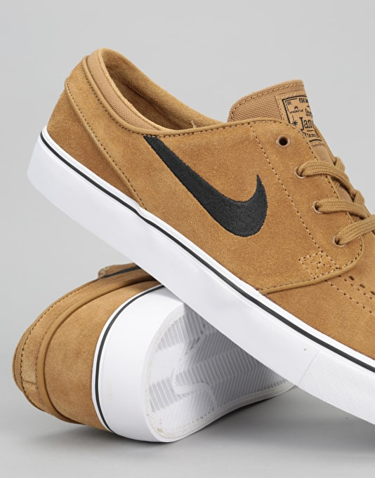 Nike SB Zoom Stefan Janoski Skate Shoes - Golden Beige/ Black