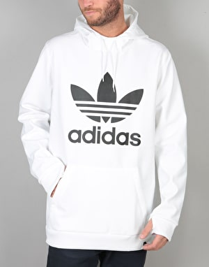 Adidas Team Tech Pullover Hoodie - White/Night Cargo F15