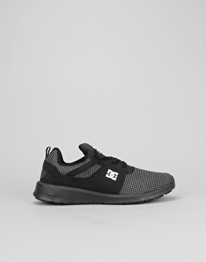 DC Heathrow SE Boys Skate Shoes - Black/Glow
