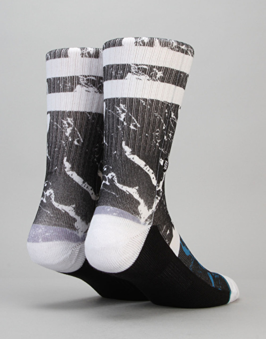 Stance Marble Classic Crew Socks - Black