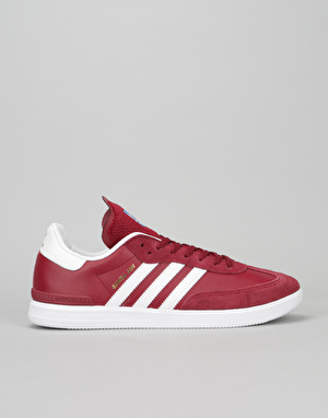 Adidas Samba ADV Skate Shoes - Collegiate Burgundy/White/Bluebird