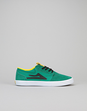 Lakai Griffin Boys Skate Shoes - Green/Black Suede