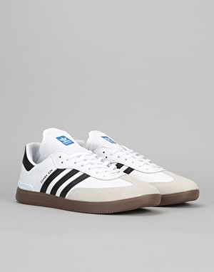 Adidas Samba ADV Skate Shoes - Ftwr White/Core Black/Gum