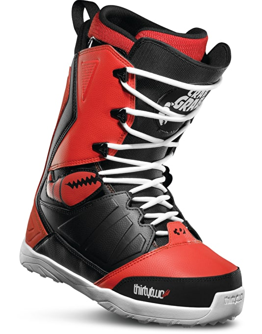 Thirty Two x Crab Grab Lashed 2017 Snowboard Boots - Black/Red