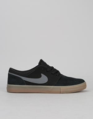 Nike SB Solarsoft Portmore II Skate Shoes - Black/Dk Grey-Gum Lt Brown