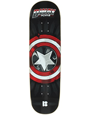 Plan B Way Captain BLK ICE Skateboard Deck - 8.25