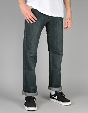Route One Relaxed Denim Jeans - Old Washed Indigo