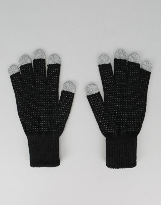 Girl iPhone Touch Screen Gloves - Black