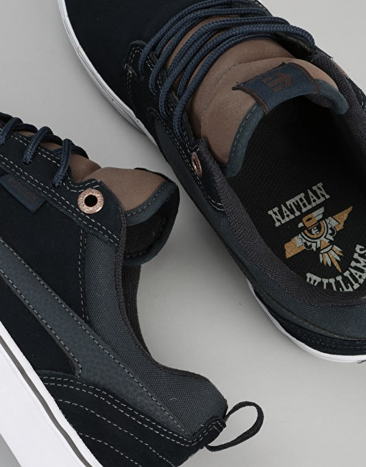 Etnies Rap CT Skate Shoes - Navy/Brown/White