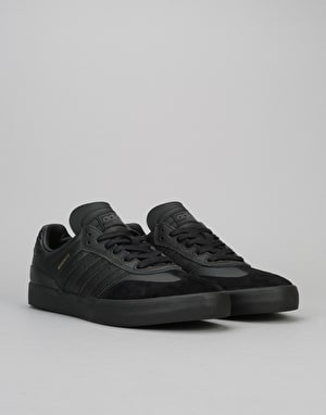 Adidas Busenitz Vulc Samba Skate Shoes - Core Black/Core Black/Grey
