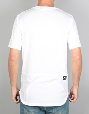 Nike SB Dry Pocket T-Shirt - White/Dark Grey Heather