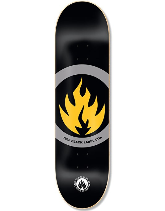 Black Label Circle Flame Limited Skateboard Deck - 8.625""