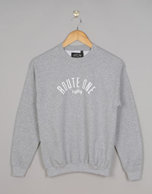 Route One Boys Logo Sweatshirt - Heather Grey