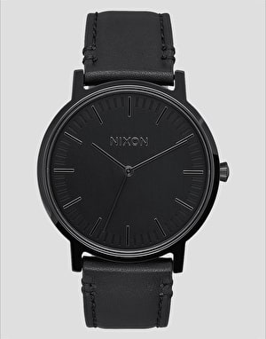 Nixon Porter Leather Watch - All Black
