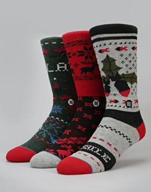 Stance Holiday Gift Box 3 Pack Socks - Patterned