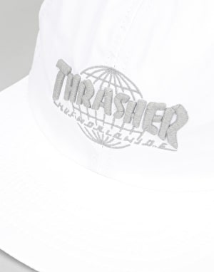 HUF x Thrasher TDS 6 Panel Cap - White