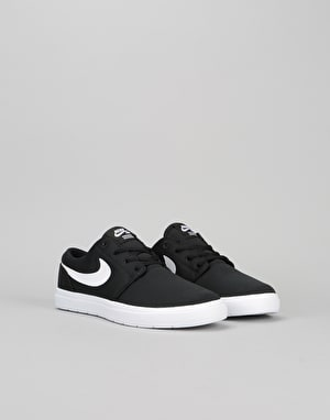 Nike SB Portmore II Ultralight Boys Skate Shoes - Black/White