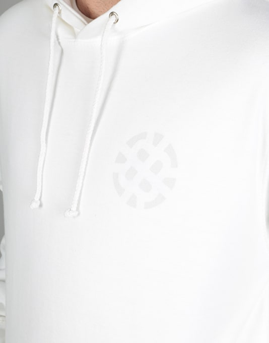 Route One Stamp Logo Fade Pullover Hoodie - White