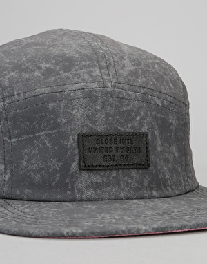 Globe Punt 5 Panel Cap - Washed Black
