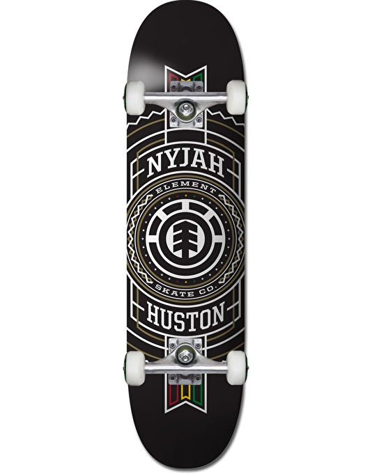 Element Nyjah Rasta Stamp Twig Complete Skateboard - 7.625""