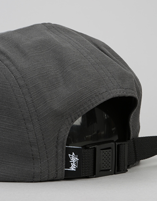 Stüssy Reverse Twill 5 Panel Cap - Black