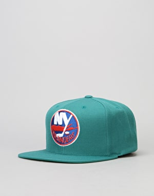 Mitchell & Ness NHL New York Islanders Wool Solid Snapback Cap - Teal