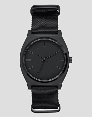 Nixon Time Teller Nato Watch - All Matte Black