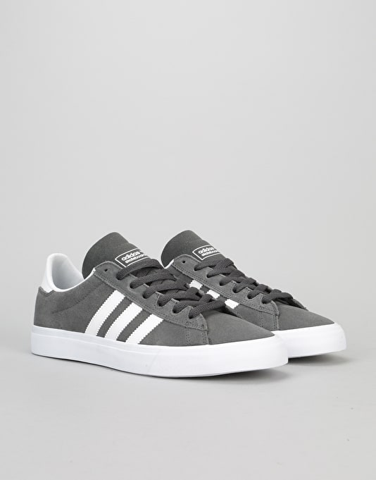 official photos ad0d0 adc61 Adidas Campus Vulc II ADV Skate Shoe - Solid GreyWhiteWhite