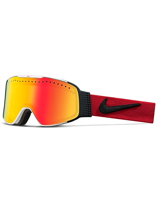 Nike Fade 2017 Snowboard Goggles - White-Uni Red-Black/Yellow Red