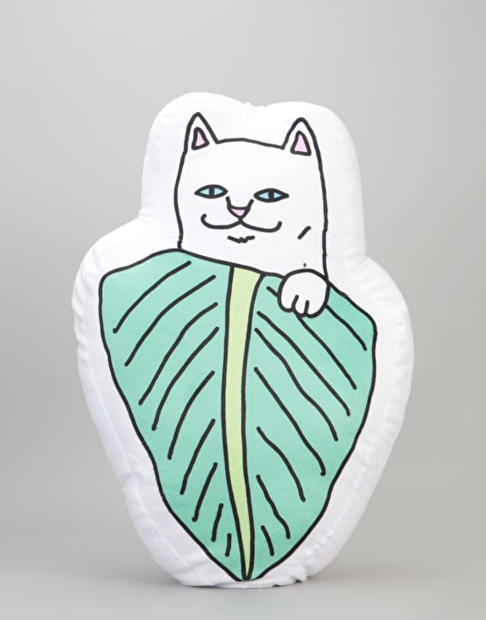 RIPNDIP Nermal Leaf Pillow - White